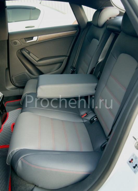 Каркасные чехлы для Audi A5 со спортсалоном с эффектом перетяжки из экокожи №9