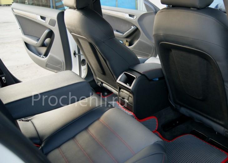 Каркасные чехлы для Audi A5 со спортсалоном с эффектом перетяжки из экокожи №3