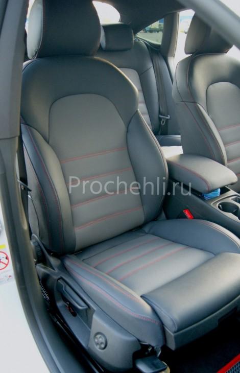 Каркасные чехлы для Audi A5 со спортсалоном с эффектом перетяжки из экокожи №5