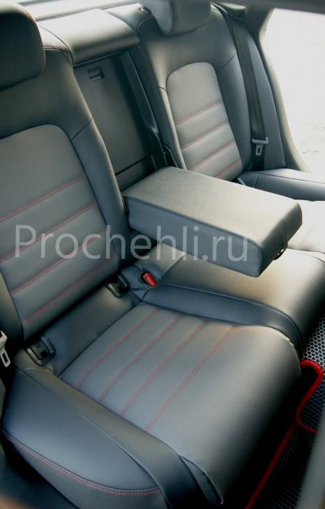 Каркасные чехлы для Audi A5 со спортсалоном с эффектом перетяжки из экокожи №10
