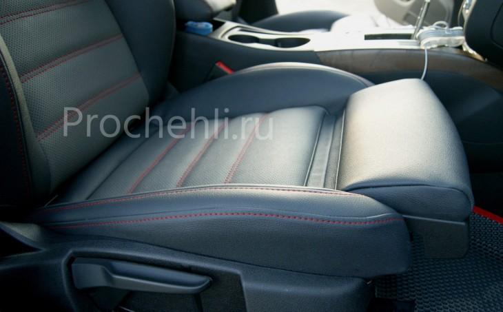 Каркасные чехлы для Audi A5 со спортсалоном с эффектом перетяжки из экокожи №7
