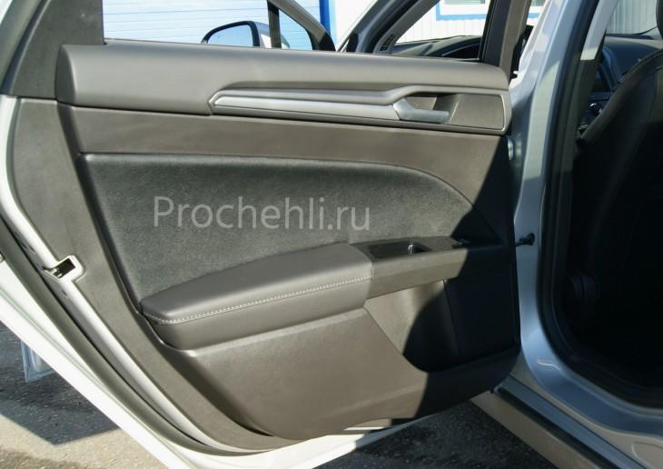 Каркасные авточехлы с эффектом перетяжки салона для Ford Mondeo 5 из экокожи Дакота и алькантары №9