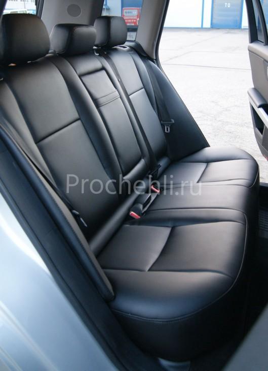 Каркасные чехлы для Mercedes-Benz GLK из черной экокожи №2
