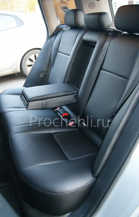 Каркасные чехлы для Mercedes-Benz GLK из черной экокожи №5