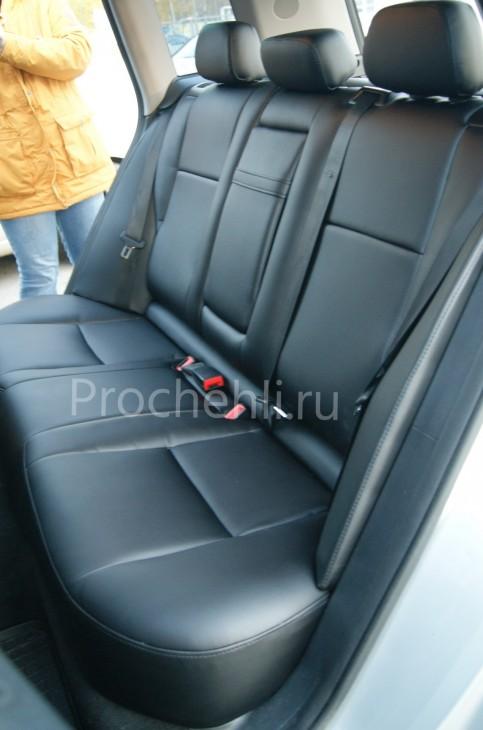 Каркасные чехлы для Mercedes-Benz GLK из черной экокожи №7