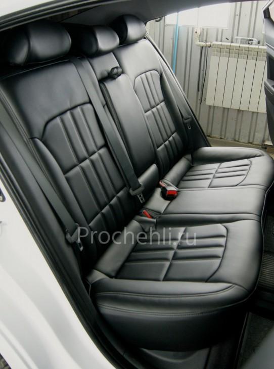 Каркасные чехлы на Hyundai Elantra 6 (AD) из черной экокожи №5