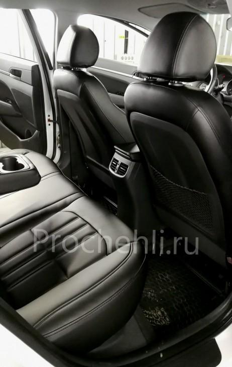 Каркасные чехлы на Hyundai Elantra 6 (AD) из черной экокожи №2