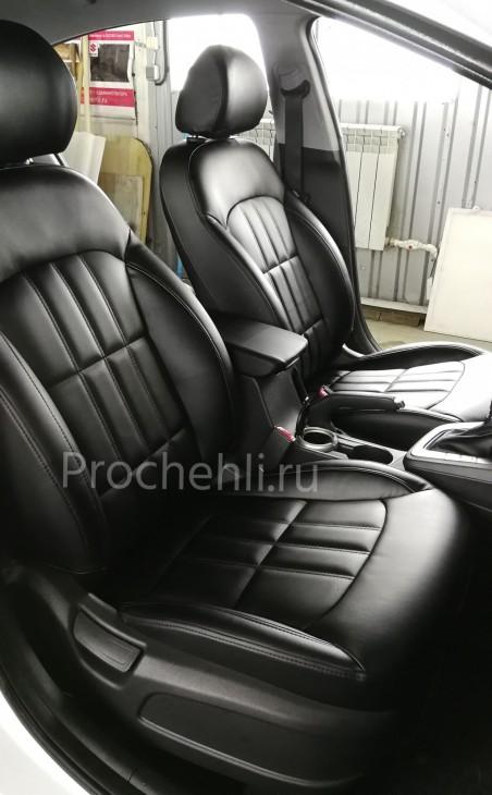 Каркасные чехлы на Hyundai Elantra 6 (AD) из черной экокожи №6