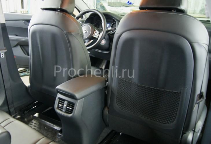 Каркасные авточехлы с эффектом перетяжки салона для Kia Cerato 4 из черной экокожи №5