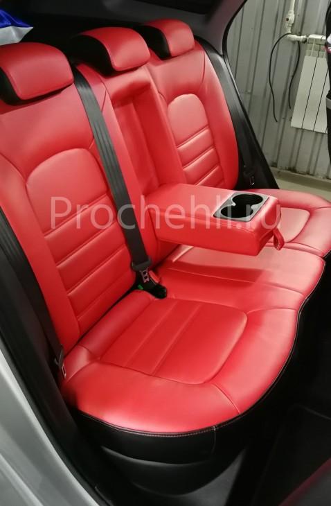 Каркасные авточехлы на Kia Ceed 2 JD из красной и черной экокожи №4