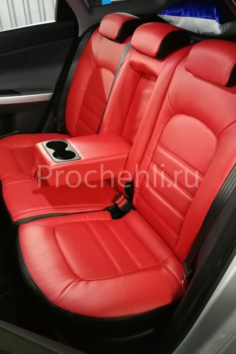Каркасные авточехлы на Kia Ceed 2 JD из красной и черной экокожи №6