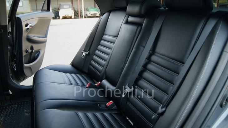 Каркасные чехлы на Toyota Corolla E140,E150 из черной экокожи №5