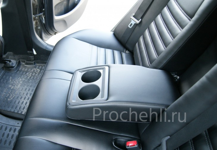 Каркасные чехлы на Toyota Corolla E140,E150 из черной экокожи №6