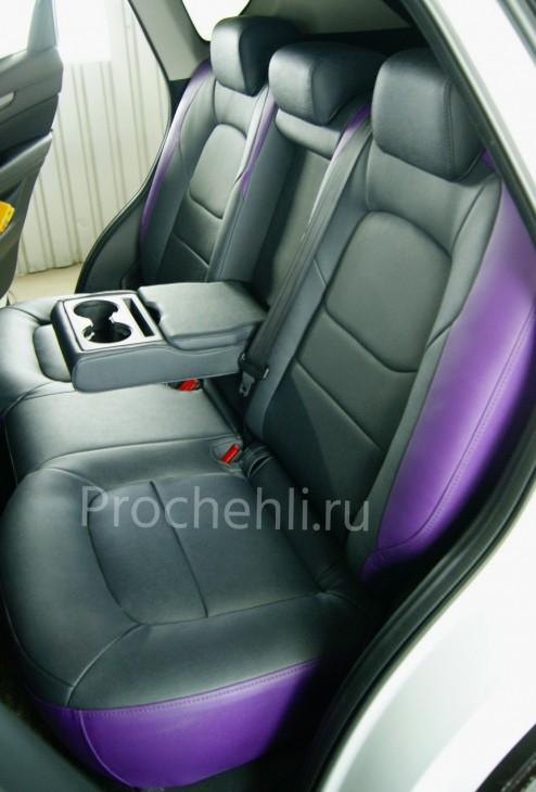 Каркасные чехлы для Mazda CX-5 (2 поколение) из экокожи Дакота №7