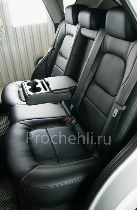 Каркасные чехлы для Mazda CX-5 (2 поколение) из черной экокожи №3