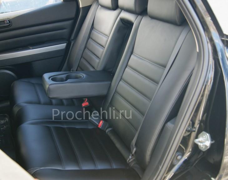 Каркасные чехлы для Mazda CX-7 из черной экокожи №5