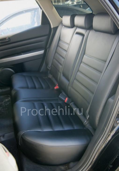Каркасные чехлы для Mazda CX-7 из черной экокожи №6