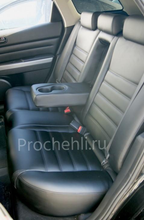Каркасные чехлы для Mazda CX-7 из черной экокожи №7