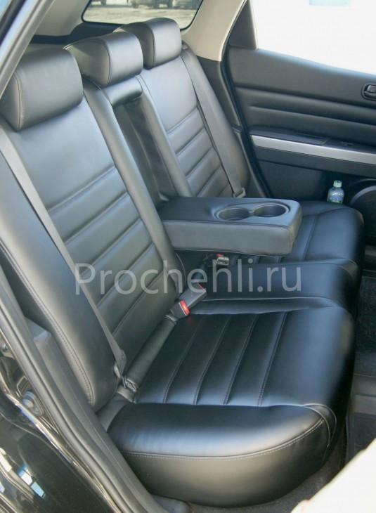 Каркасные чехлы для Mazda CX-7 из черной экокожи №8