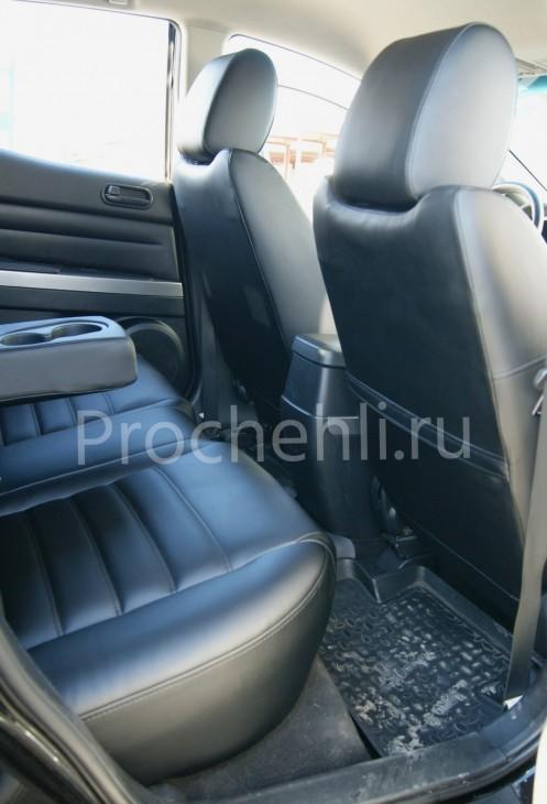 Каркасные чехлы для Mazda CX-7 из черной экокожи №9