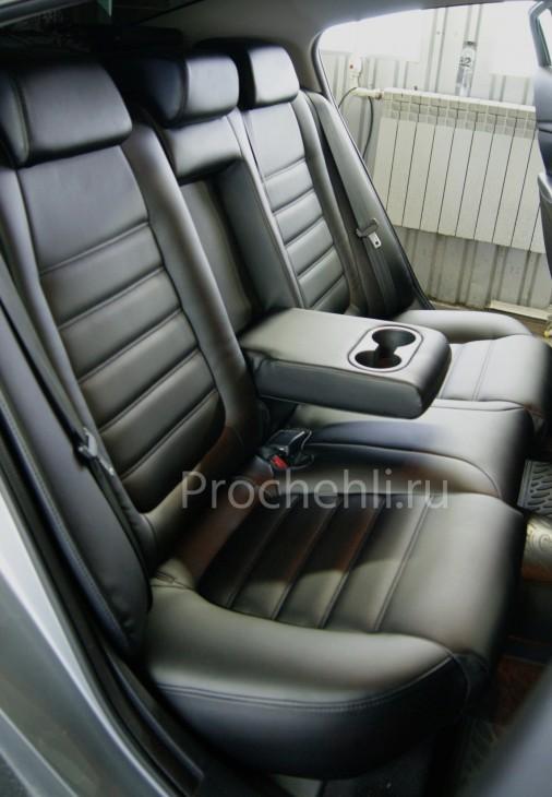 Каркасные чехлы для Mazda 6 (GJ) из черной экокожи №5