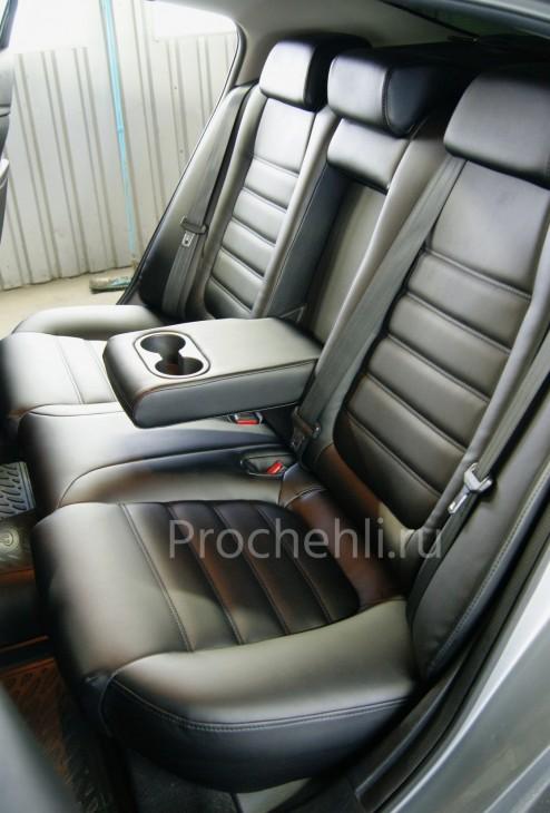 Каркасные чехлы для Mazda 6 (GJ) из черной экокожи №7