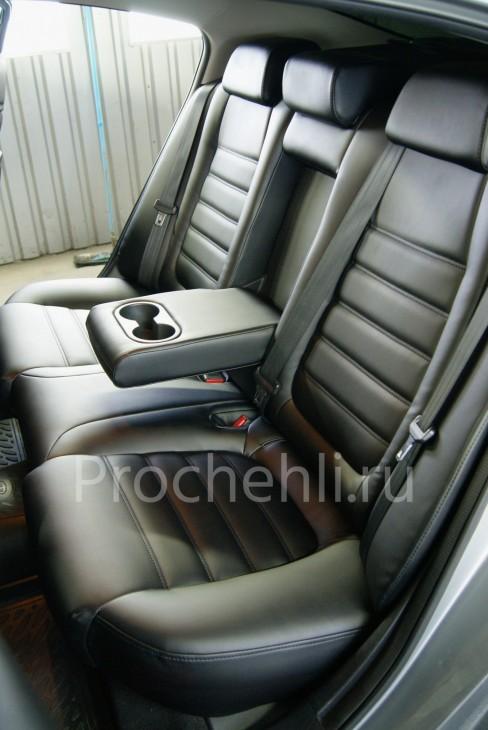 Каркасные чехлы для Mazda 6 (GJ) из черной экокожи №8