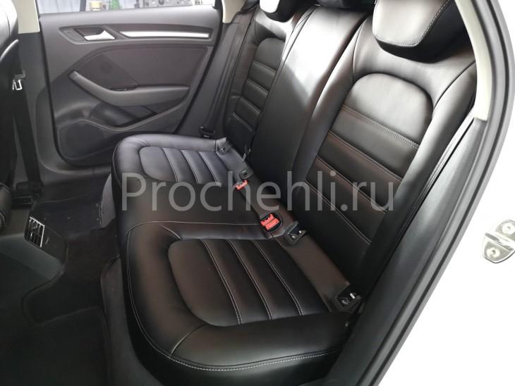 Каркасные чехлы для Audi A3 8V из черной экокожи №2