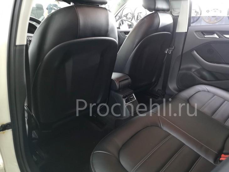 Каркасные чехлы для Audi A3 8V из черной экокожи №5