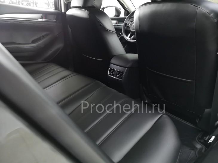 Каркасные чехлы для Mazda 6 (GJ) рестайлинг 2019 из черной экокожи №5
