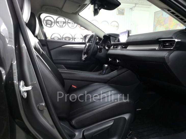 Каркасные чехлы для Mazda 6 (GJ) рестайлинг 2019 из черной экокожи №6