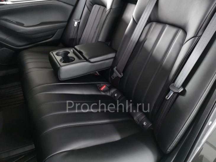 Каркасные чехлы для Mazda 6 (GJ) рестайлинг 2019 из черной экокожи №4