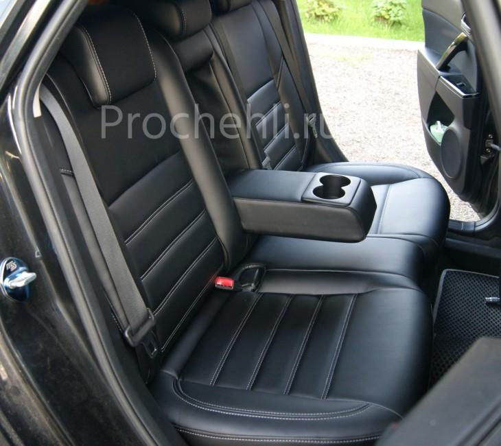 Каркасные чехлы для Mazda 3 (BL) из черной экокожи №4