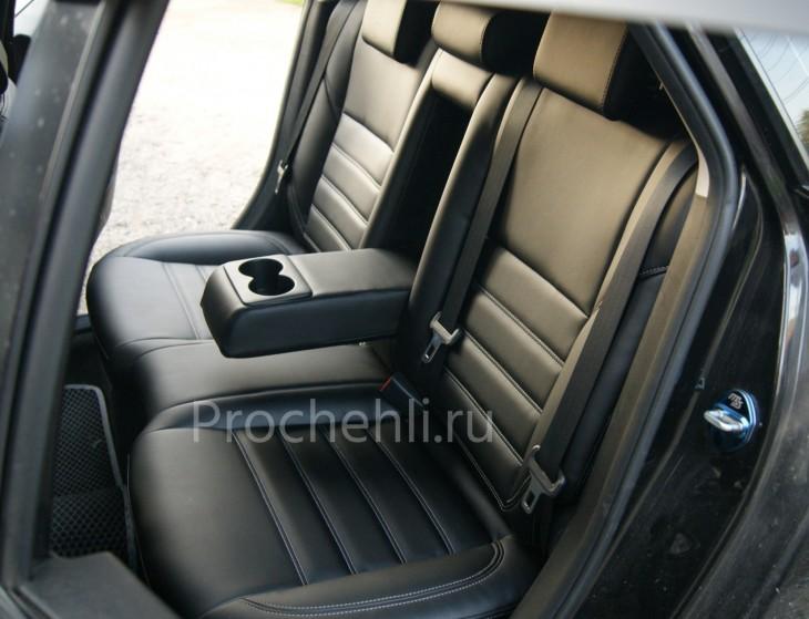 Каркасные чехлы для Mazda 3 (BL) из черной экокожи №2