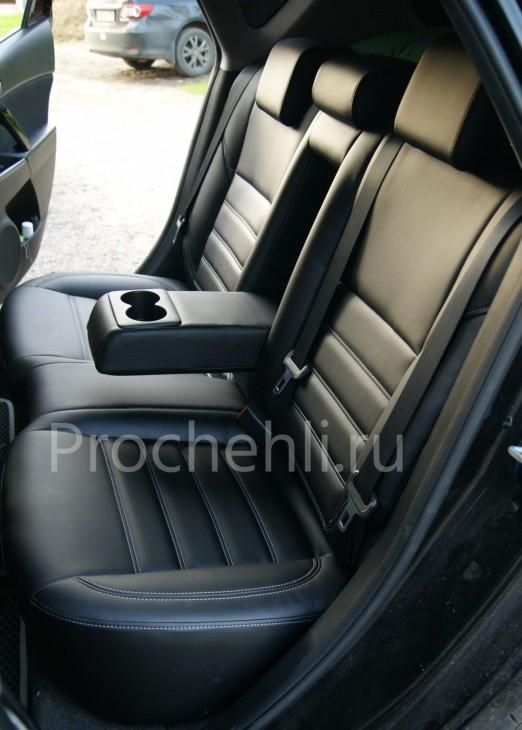 Каркасные чехлы для Mazda 3 (BL) из черной экокожи №5