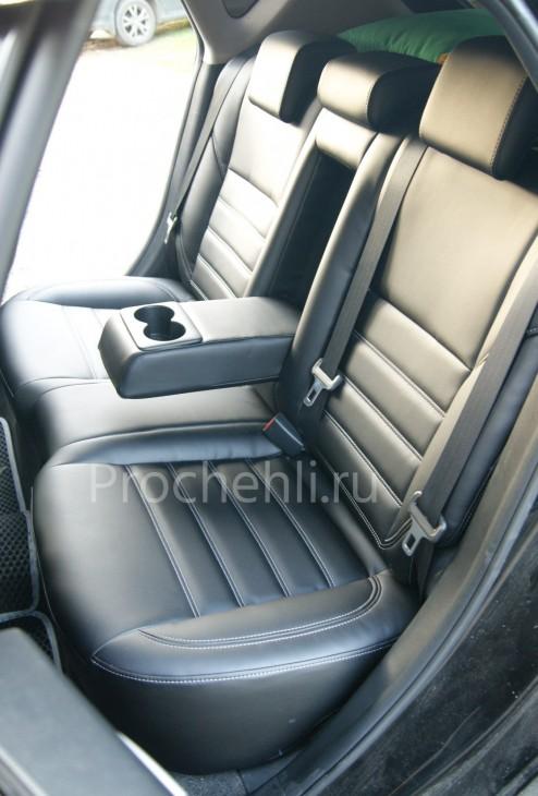 Каркасные чехлы для Mazda 3 (BL) из черной экокожи №7