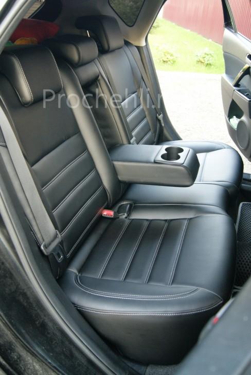 Каркасные чехлы для Mazda 3 (BL) из черной экокожи №8