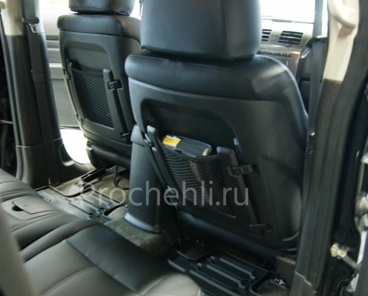 Каркасные авточехлы для Hummer H3 из черной и серой экокожи №4