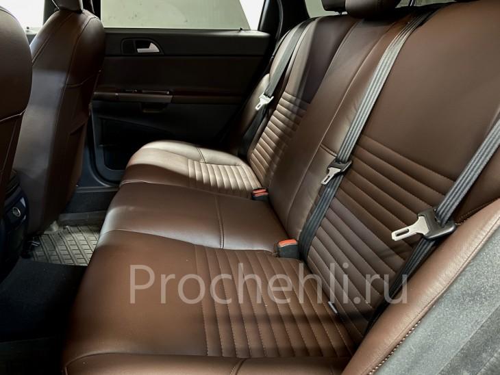 Каркасные чехлы на Volov V50/S40 из темно-коричневой экокожи №10