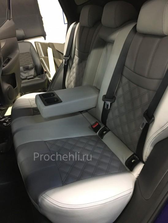 Каркасные чехлы на Nissan Qashqai 2 (2020) из серой экокожи №3