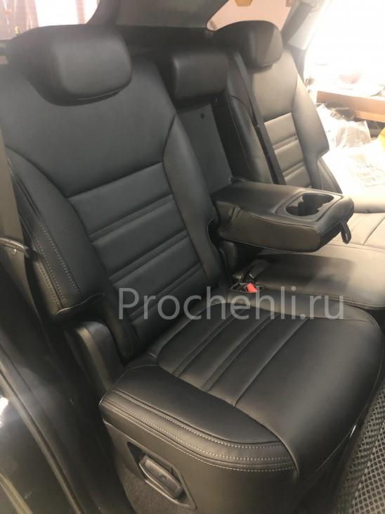 Каркасные авточехлы для Kia Sorento 3 Prime из черной экокожи №4