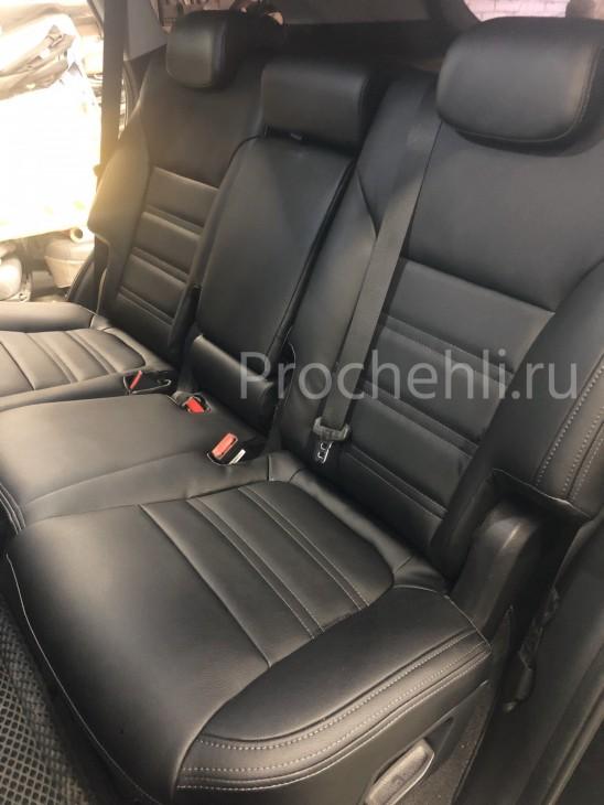 Каркасные авточехлы для Kia Sorento 3 Prime из черной экокожи №6