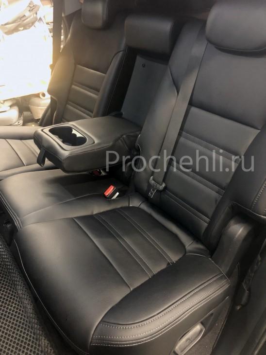 Каркасные авточехлы для Kia Sorento 3 Prime из черной экокожи №7