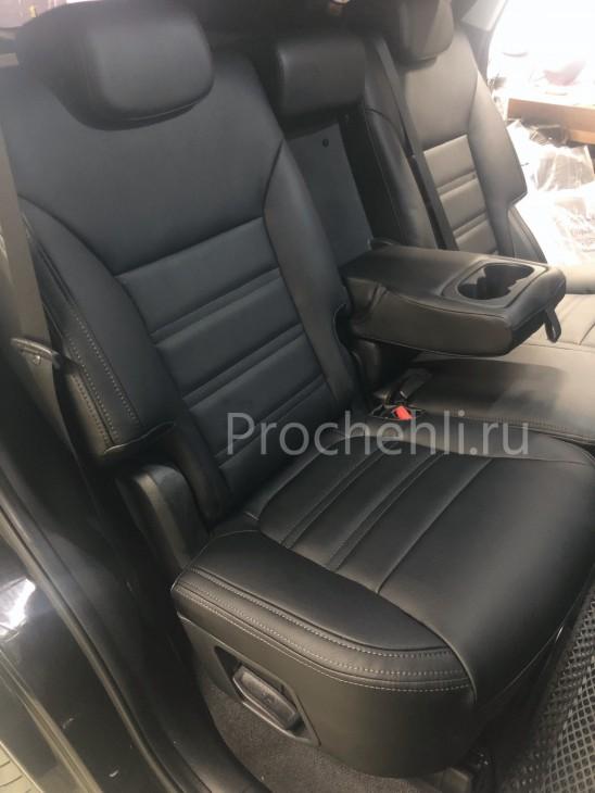 Каркасные авточехлы для Kia Sorento 3 Prime из черной экокожи №8