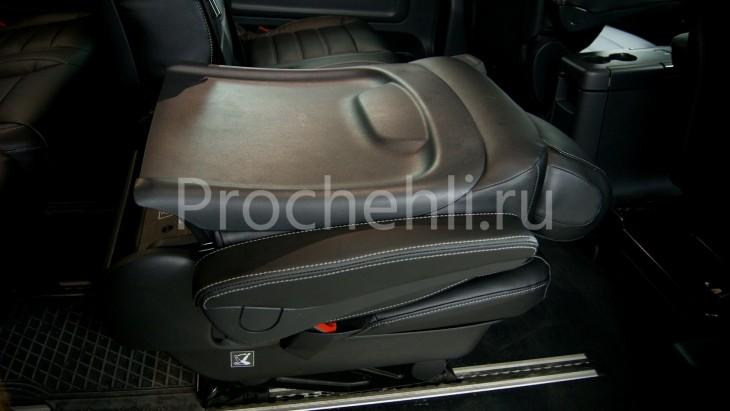 Каркасные авточехлы с эффектом перетяжки салона для Mercedes Vito/V-klasse (W447) из черной экокожи с двойной строчкой №5
