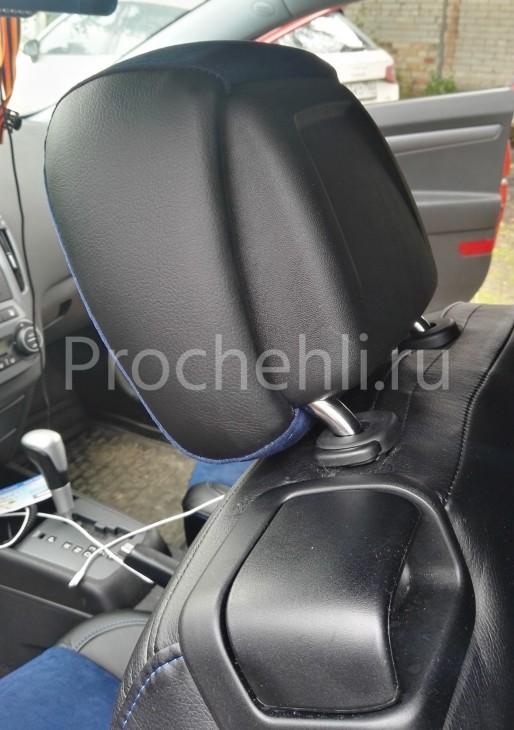 Чехлы на Kia Ceed Pro 1 с эффектом перетяжки №4