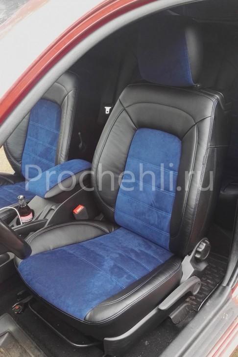 Чехлы на Kia Ceed Pro 1 с эффектом перетяжки №1