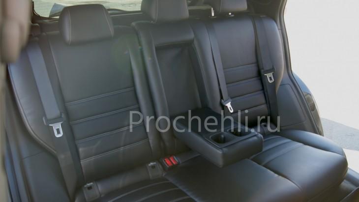 Чехлы на Nissan Qashqai 2 из черной экокожи №5