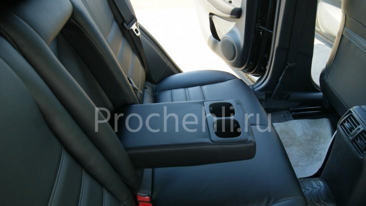 Чехлы на Nissan Qashqai 2 из черной экокожи №7