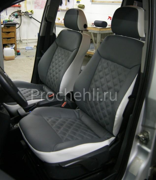 Чехлы на Opel Zafira B с эффектом перетяжки №2